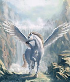Pegasus Mythical Winged Horse Women/'s Slouchy V-Neck T Shirt