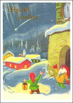 Olavi Vikainen Fairy Land, Christmas 2017, Gnomes, Folk, Album, Painting, Art, Parents, Illustrations