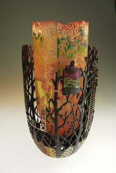 """Vanishing Fireflies"" cast glass and bronze Binh Pho"