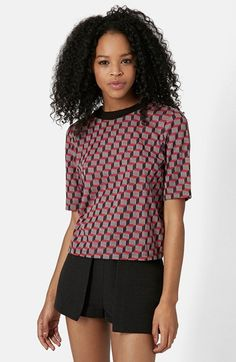 Topshop Geo Print Tee available at #Nordstrom