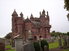 Mortuary Chapel-Situated in Arbroath's Western Cemetery the Mortuary Chapel was designed and built in 1884 by the owner of Hospitalfield House, Patrick Allan-Fraser as a mausoleum for himself and his family. A grand edifice of neo-Gothic architecture, the Chapel has stonework, created by Fraser's stonemason, John Peters, unrivalled by anything in Scotland, including carvings of a traditional Highland funeral procession. It was gifted to Arbroath Town Council as a non-denominational chapel.