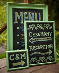 How-To: Chic Wedding Chalkboard