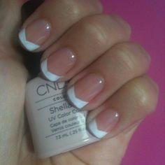 Shellac Chevron French Manicure