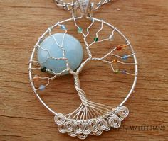 Candy Jade Full Moon Tree Of Life Pendant by MadeByMyLeftHand  Isn't this just beautiful?!!!
