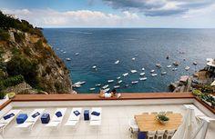 Sea view view from the villa with pool in Amalfi Sardinia Holidays, Luxury Villa, Amalfi, Travel Destinations, Italy, Island, Outdoor Decor, Luxury Condo, Road Trip Destinations
