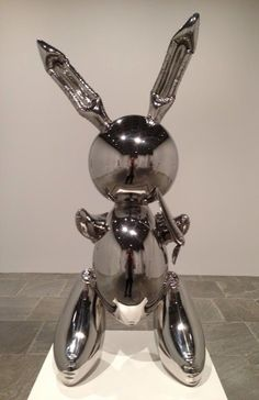 Jeff Koons Artist Retrospective Exhibition Silver Rabbit Bunny Whitney Museum Of American Art New York