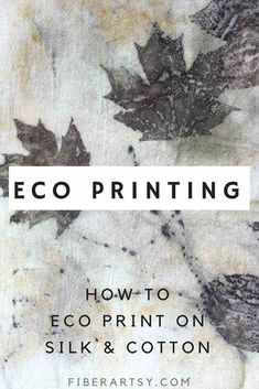 Eco Printing on Fabric. Learn basic Eco Printing Techniques with black walnut an… Eco Printing on Fabric. Learn basic Eco Printing Techniques with black walnut and maple leaves printed on silk chiffon and cotton with an iron modifier. Fabric Painting, Fabric Art, Fabric Crafts, Fabric Design, Diy Crafts, Diy Print On Fabric, Paint Fabric, Shibori, Fabric Dyeing Techniques