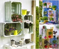 Recycle and repaint shelves