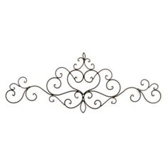 Shop metal art at Kirkland's! Metal wall art and decorations have a distinct appeal; explore our selection of unique metal wall decor to find the piece for you. Wrought Iron Decor, Iron Wall Decor, Metal Walls, Metal Wall Art, Stone Fireplace Wall, Metal Plaque, Swirl Design, Antique Metal, Wall Plaques
