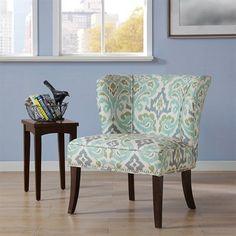 Madison Park Hilton Armless Accent Chair, Blue Green Madi... http://www.amazon.com/dp/B016OCFBL0/ref=cm_sw_r_pi_dp_W.jnxb1P1M5J6