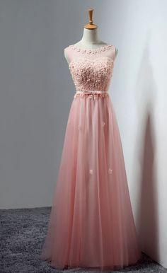 Long Bridesmaid Dress, Elegant Chiffon Bridesmaid Dress, Applique Bridesmaid Dress, Dress for Wedding