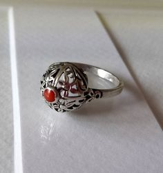 Pierścionek Warmet Vintage Lata '60 Srebro Koral Rings N Things, Tribal Fusion, Signet Ring, Gold Jewellery, Band Rings, Class Ring, Jewerly, Silver Rings, Jewelry Design