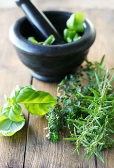 Fresh Herbs: there's nothing like crushing a few and taking a deep whiff. Incredibly refreshing...and of course cooking with them is delightful. :)