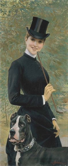 View Amazzone con alano by Adolfo Belimbau on artnet. Browse upcoming and past auction lots by Adolfo Belimbau. Laura Lee, Riding Habit, Ludwig, Portraits, Art Themes, English Style, Italian Artist, Equestrian Style, Large Dogs