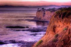 Cliffs of Palos Verdes at sunset.
