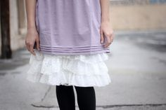 see kate sew: lace ruffles slip/skirt tutorial