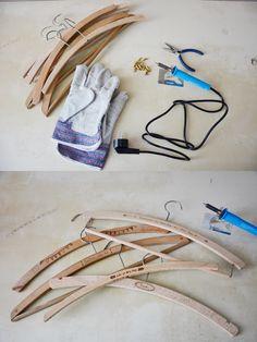 Clothes hangers, DIY soldering wood