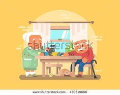 Grandparents breakfast flat