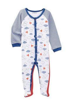 Airplanes Knit Sleeper (Baby Boys)