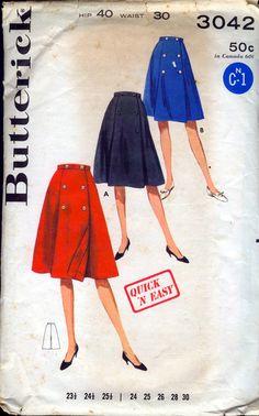 Butterick 3042 Coachman wrap skirt