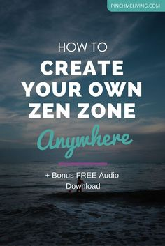 """Being zen isn't easy when you're surrounded by noisy, chaotic environments and situations. Often we find ourselves overstimulated. But through a daily practise, we can generate and sustain our own ""zen zone"". Then whenever we need it, we can tap back int"