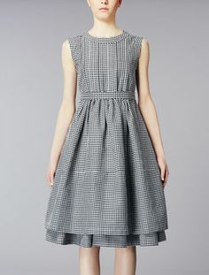 Sleeveless dress small squares