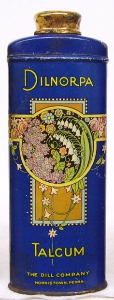08.20.2016 Vintage talcum tin with  lily of the valley motif.