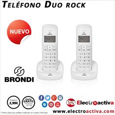 ¡¡Comunicación perfecta para tu hogar u oficina!! Teléfono BRONDI DUO ROCK http://www.electroactiva.com/brondi-telefono-inalambrico-duo-rock-blanco.html #Elmejorprecio #Telefonia #Electronica #PymesUnidas