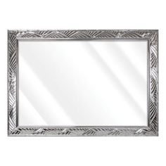 Unbranded Large Rectangle Shiny Silver Beveled Glass Art Deco Mirror (42 in. H x 30 in. W)-16775-36-58S - The Home Depot Contemporary Wall Mirrors, Art Deco Mirror, Beveled Glass, 3 Things, Oversized Mirror, Glass Art, Frame, Silver, Beautiful