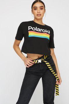a71777c50d9253 Polaroid Graphic Cropped T-Shirt | Womens | Urban Planet Music Television,  Urban Planet