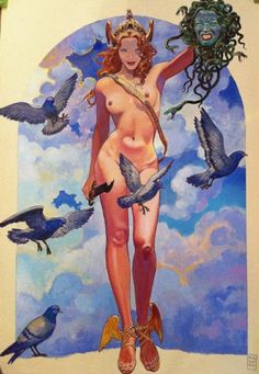 Love this level of strength and beauty. Victorious. Glorious. -Illo. by Milo Manara