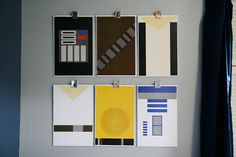 Star Wars Wall Art | Room decor that is so simple, yet so cool.
