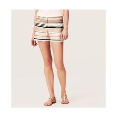 LOFT Satiny Stripe Riviera Shorts ($35) ❤ liked on Polyvore