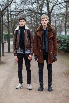 Men in Sheepskin Shearling Jacket and Coat
