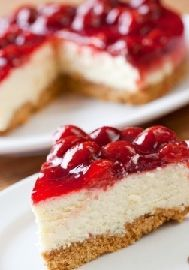 Homemade Strawberry Cheesecake Recipe and more at MissHomemade.com