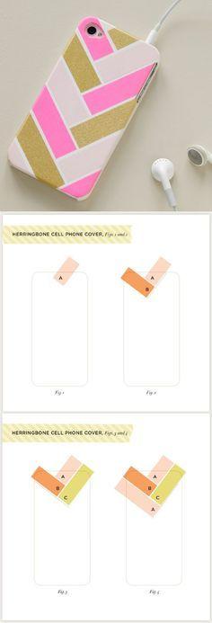 Coque à faire avec du masking tape très simple