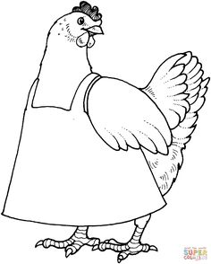 Best Photo of Chicken Coloring Pages . Chicken Coloring Pages Chicken Coloring Pages Free Coloring Pages Chicken Coloring Pages, Animal Coloring Pages, Coloring Sheets, Coloring Books, Free Printable Coloring Pages, Coloring Pages For Kids, Little Red Hen Activities, Animal Templates, Templates Free