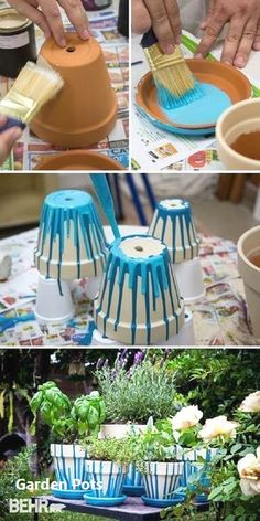 Decora o e Inven o Pintar vasinhos com uma id ia super f cil - DIY - Adorei Nature Crafts Backyard Ideas Backyard Designs Garden Crafts Garden Projects Garden Ideas Diy Crafts Garden Art Potted Herb Gardens # Diy Garden, Garden Pots, Herb Garden, Garden Ideas, Garden Crafts, Diy Crafts, Garden Care, Garden Projects, Garden Junk