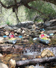 Kayaking in Sabino Canyon by Colette Denali, via Flickr