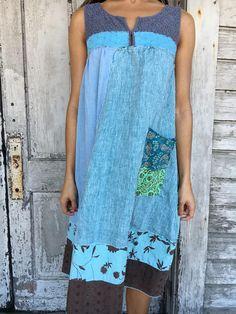 Willow dress-small medium-artsy-Eco Clothing-Upcycled