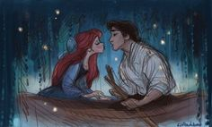 I like the way that Ariel is really trying to kiss him and that Eric is unsure. Such a beautiful scene! <3
