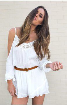 Love this hayleigh playsuit from beginning boutique for spring, long sleeves for cold nights, but open for hot day, plus it's white, perfect spring colour Available from beginning boutique