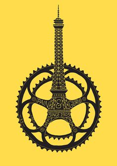 Poster to celebrate the 100th anniversary of the Tour de France.