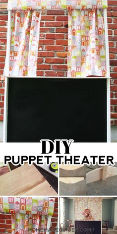 Make a simple DIY puppet theater with just a few materials. This is a great kids birthday gift idea!