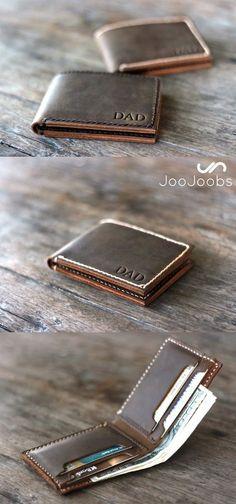 Mens wallet, leather wallet, groomsmen gift, gift for groom, boyfriend gift…