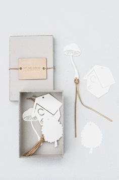 Let Me Grow - paper tags with leather cord Severina Kids for STU