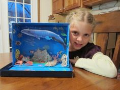 shoebox animal habitat for the Girl Scout Animal Habitats Junior badge Ocean Projects, Animal Projects, Science Projects, School Projects, Projects For Kids, Art Projects, Ocean Diorama, Ecosystems Projects, Ocean Habitat