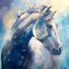 Horse Oil on canvas 30x30cm  https://www.behance.net/marsenn