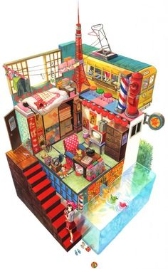 elaborate bedroom of a cute otaku anime girl hd wallpaper by fuji choko [animekida.com] fancy pretty | Anime Kida