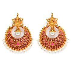 Product information: SKU Color Gold Occasion wedding & traditional Product Type Earrings Material Used Copper Jewellery Work Gold_Plated Height(mm) 55 1 Gram Gold Jewellery, Temple Jewellery, Fashion Earrings, Fashion Jewelry, Women Jewelry, Ethnic Jewelry, Copper Jewelry, Girls Earrings, Drop Earrings
